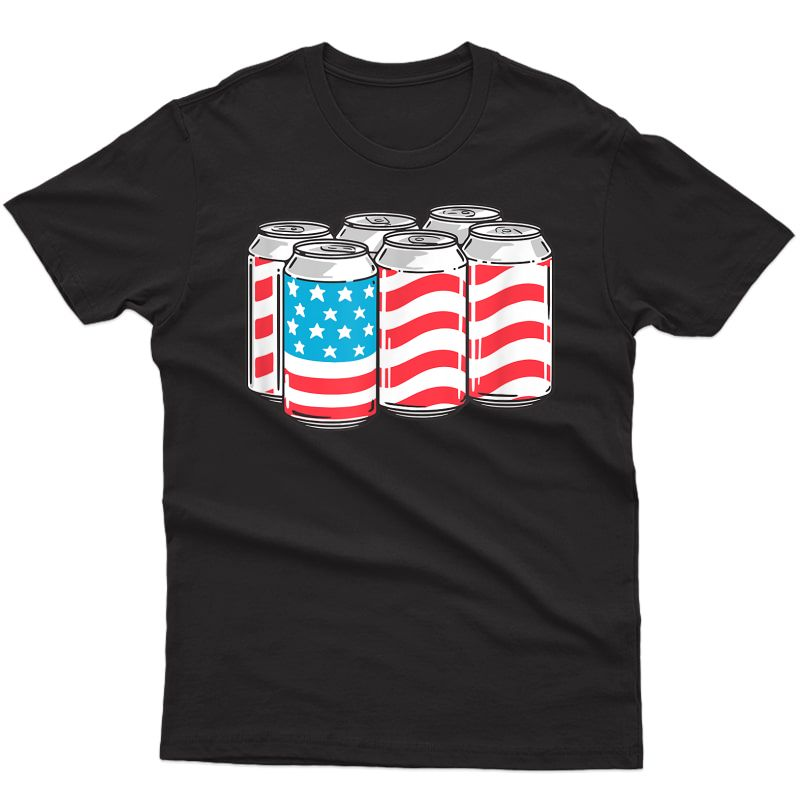 American Funny 4th Of July Beer Patriotic Usa Flag Pride T-shirt