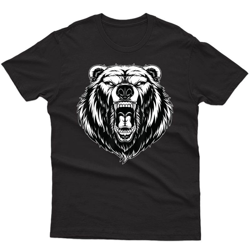 Angry Bear Ferocious Grizzly Bear T-shirt