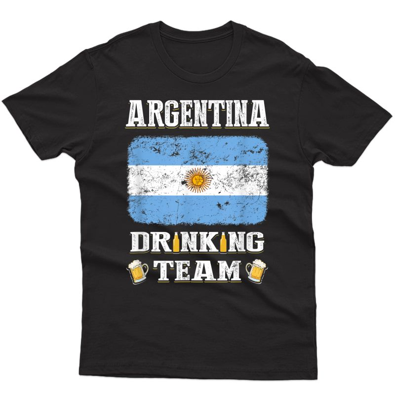 Argentina Drinking Team Funny Beer T Shirt