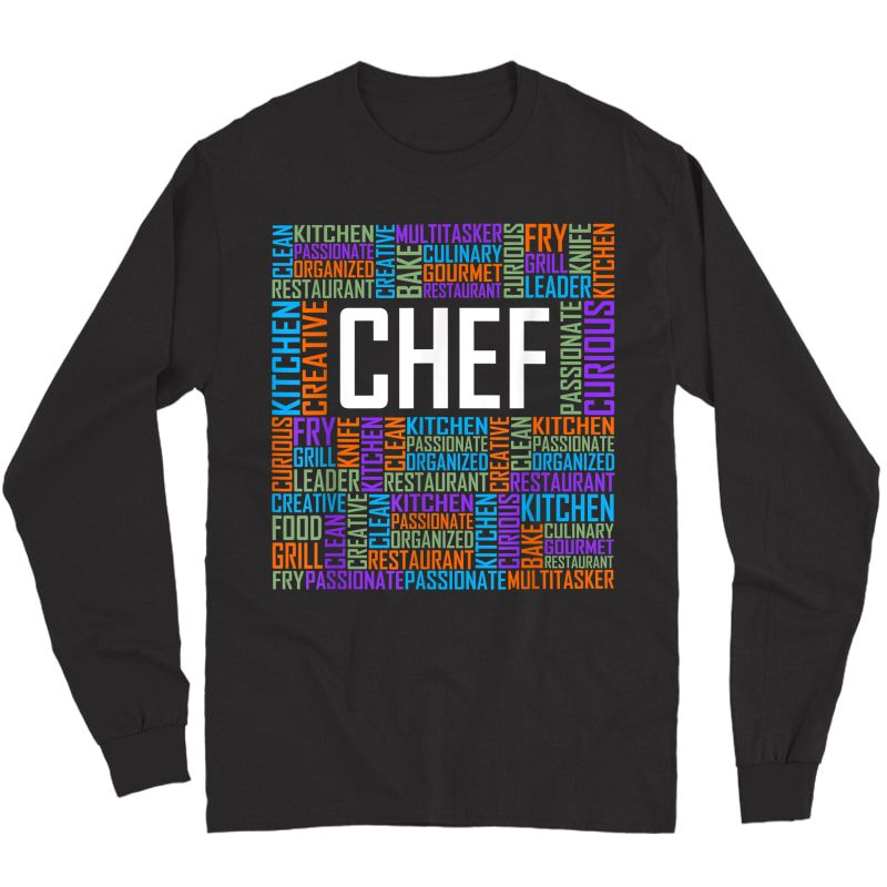 Chef Words Gifts Cooking Culinary Chef Gift T-shirt Long Sleeve T-shirt