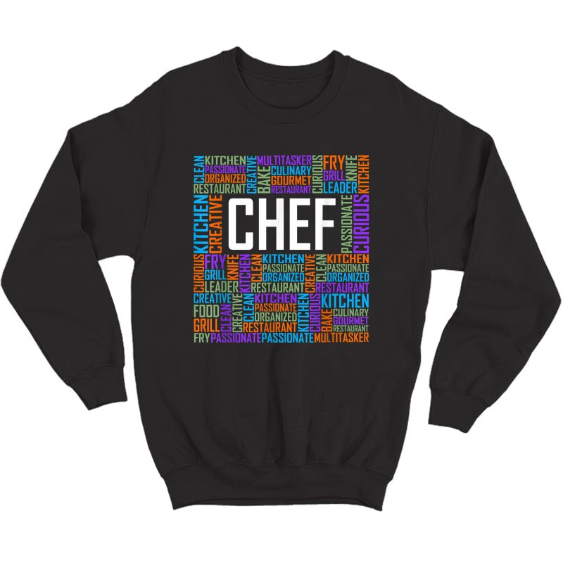 Chef Words Gifts Cooking Culinary Chef Gift T-shirt Crewneck Sweater