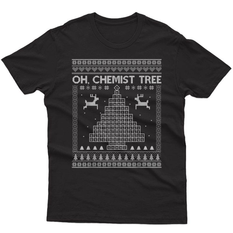 Chemist Tree Tshirt Ugly Christmas Chemistry Periodic Table