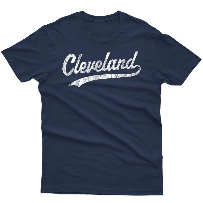Cleveland Oh T-shirt Vintage Baseball Sports Script