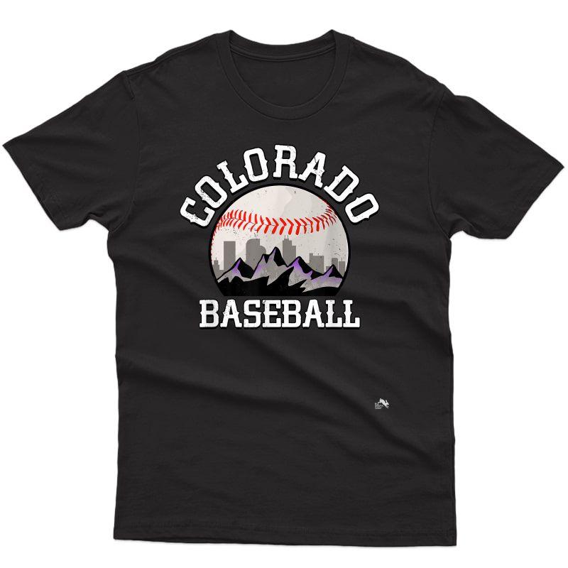 Colorado Baseball Rocky Mountain Team T-shirt