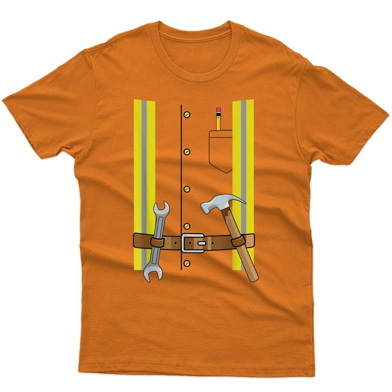 Construction Worker Halloween Costume For & Adults T-shirt