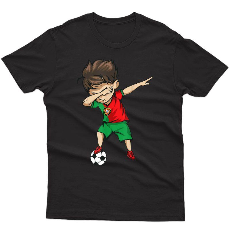 Dabbing Soccer Boy Portugal Shirt Portuguese Football
