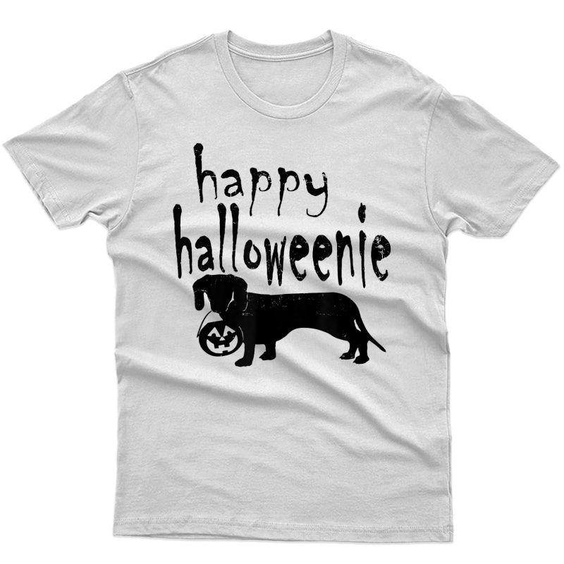 Dachshund Costume Halloween Happy Halloweenie Wiener T-shirt