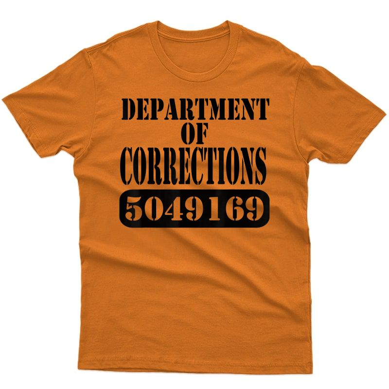 Departt Of Corrections Prisoner Halloween Costume T-shirt