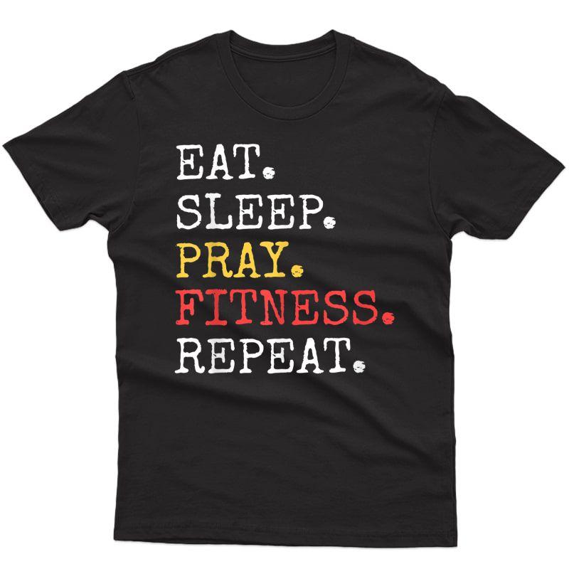 Eat Sleep Pray Ness Repeat T-shirt Christian Catholic Fun