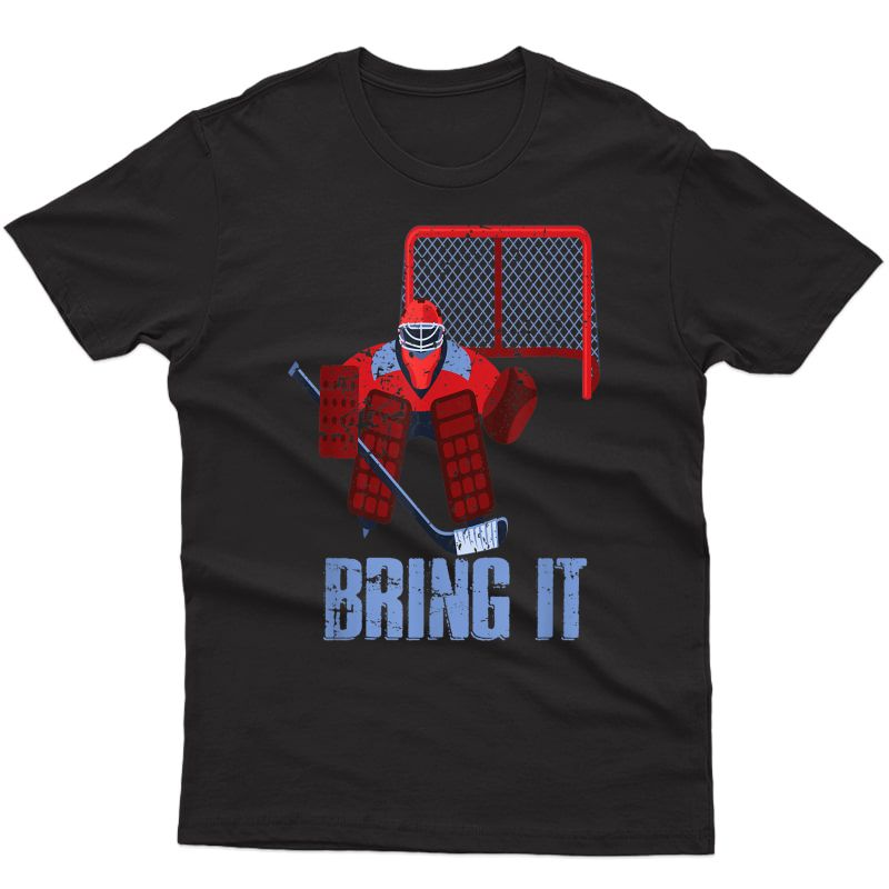 Funny Ice Hockey Player Gift Goalie Pride Gift Vintage T-shirt