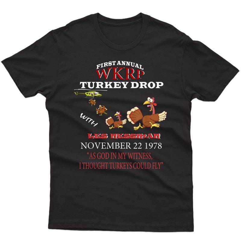 Funny Thanksgiving Turkey Tee Wkrp-turkey-drop Gift T-shirt
