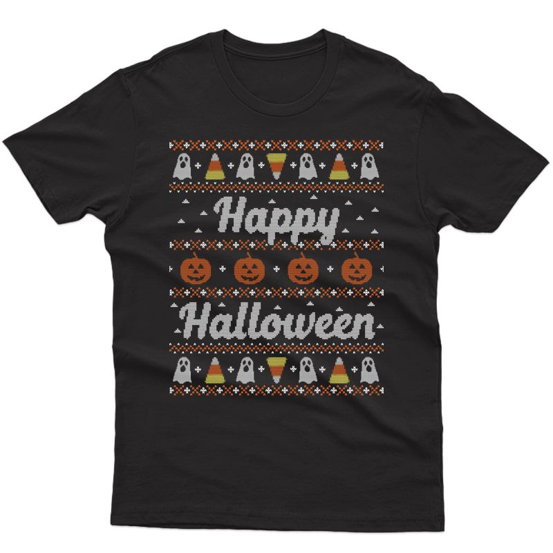 Funny Ugly Sweater Happy Halloween Tacky Gift
