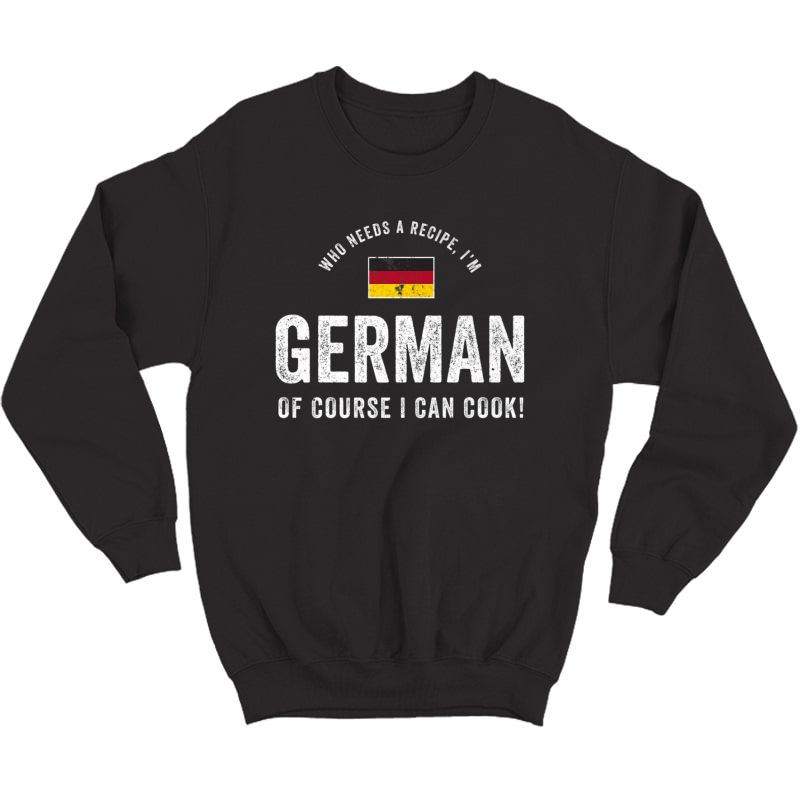 German Food Chef Flag Cute Funny Cooking T-shirt Crewneck Sweater