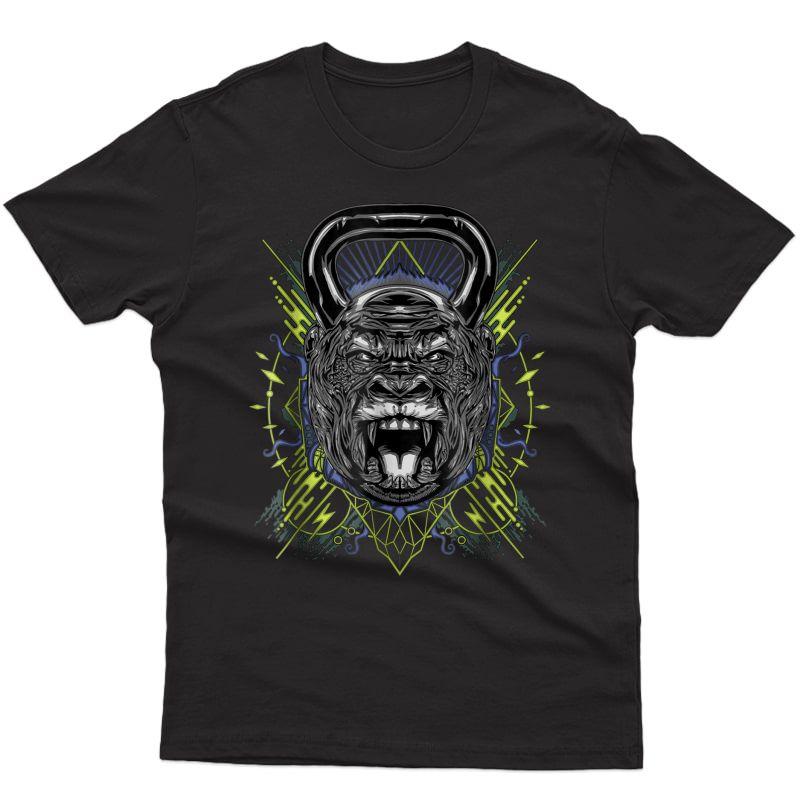 Gorilla Kettlebell Graphic Workout T Shirt
