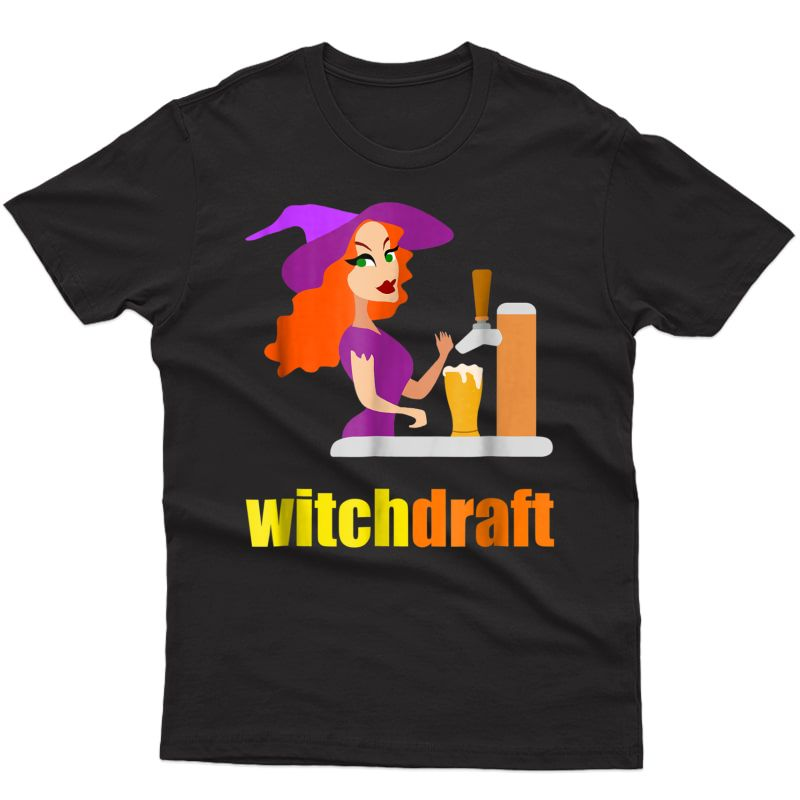Halloween Beer Bartender Funny Shirt Costume Witch Draft