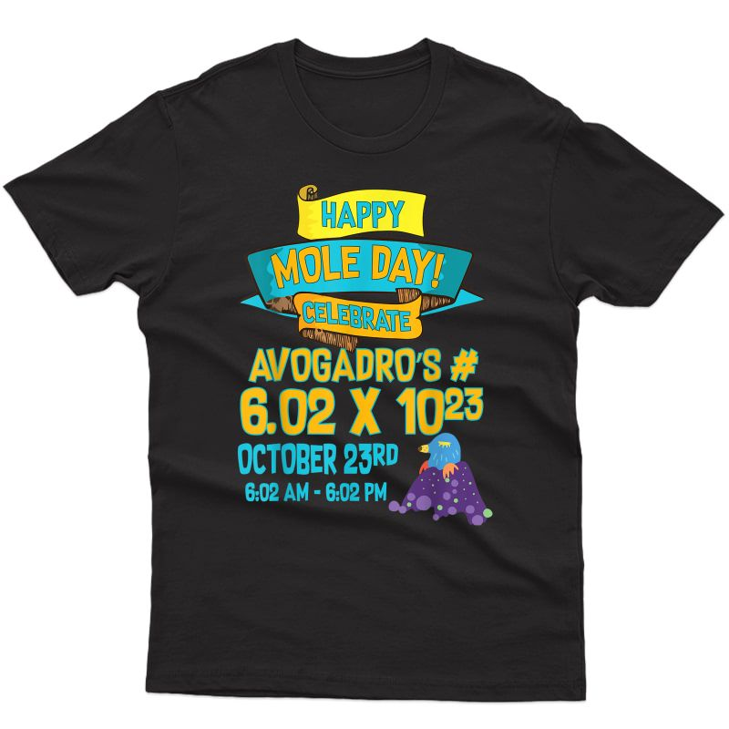 Happy Mole Day October 23rd Funny Chemist And Tea Gift T-shirt