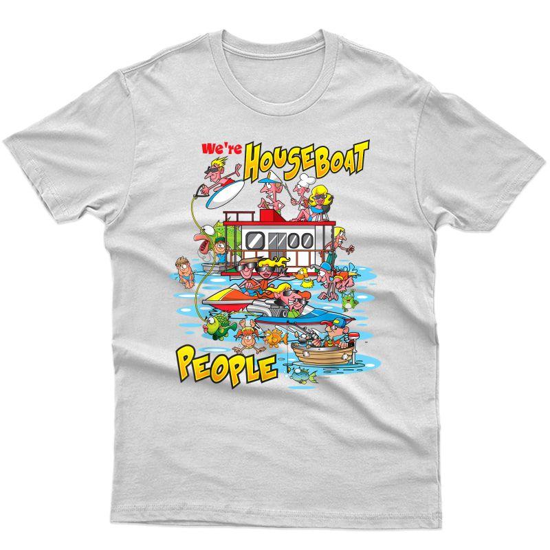 Houseboat Lake Party Fishing Swimming T Shirt