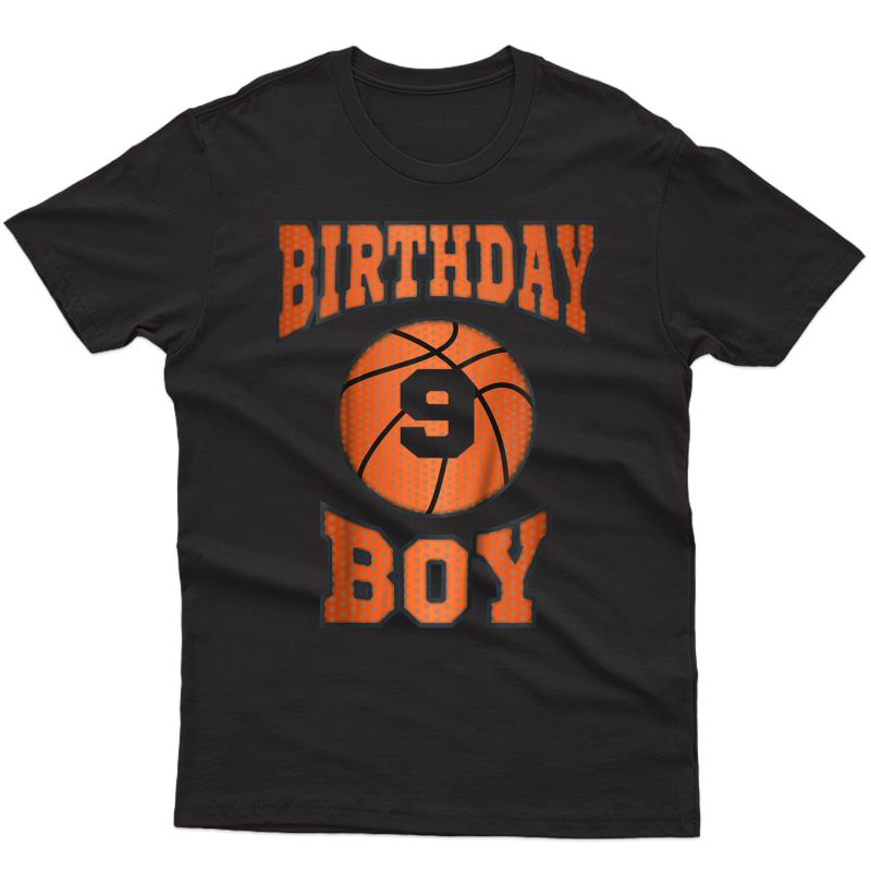 9th Birthday Shirt Boy | Basketball T-shirt For 9 Year Olds