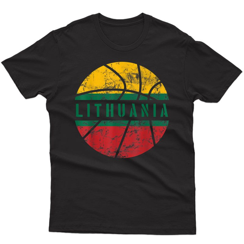 Lithuania Basketball Gift Flag For Fans And Lovers T-shirt