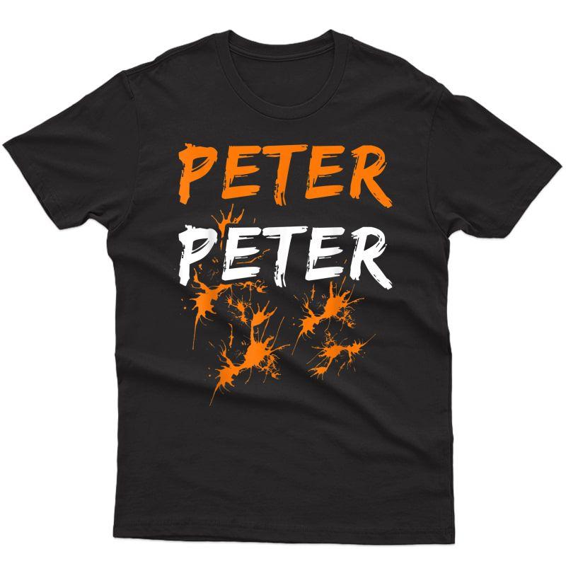 S Couples Halloween Costume Shirt Peter Peter Pumpkin Eater T-shirt