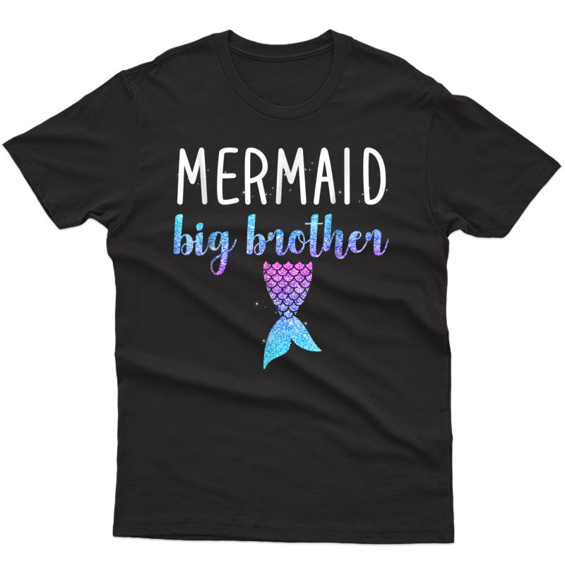 Mermaid Big Brother Mermaid Birthday Party Shirt Gift
