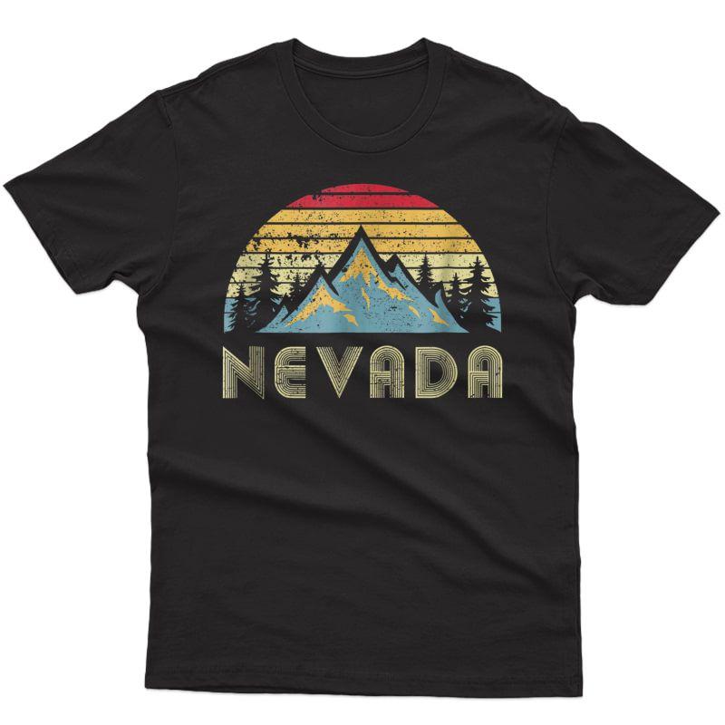 Nevada Tee - Retro Vintage Mountains Nature Hiking T Shirt