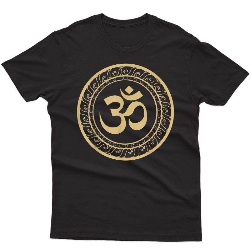 Om Ohm Aum Symbol Spiritual Yoga Tee Gift T-shirt