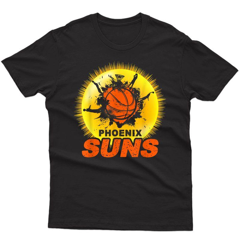 Phoenix Arizona Basketball Fan, The Valley Pixel Sun Rise T-shirt