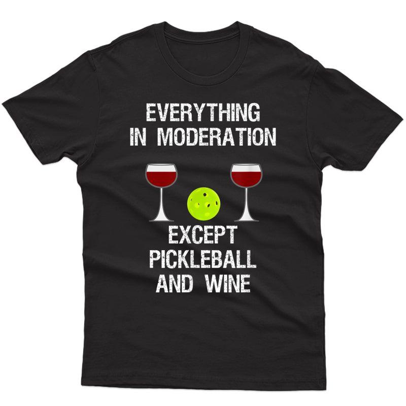 Pickleball Funny T-shirt - Wine