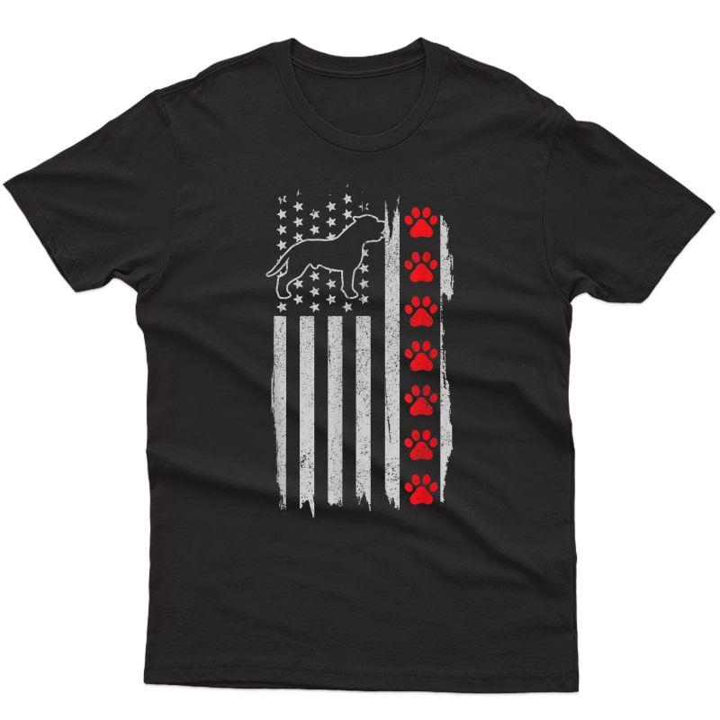 Pitbull American Flag 4th Of July Patriotic Pitbull Dog T-shirt