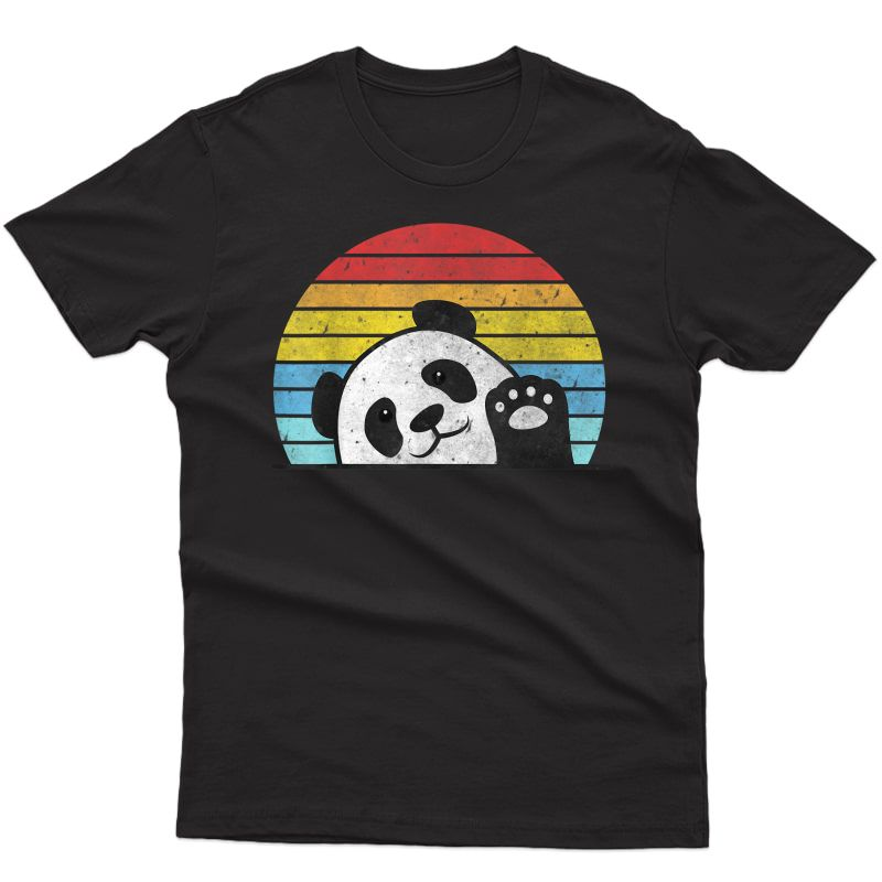 Retro Panda Cute Panda Bear Vintage Zookeeper Zoo Family Fan T-shirt