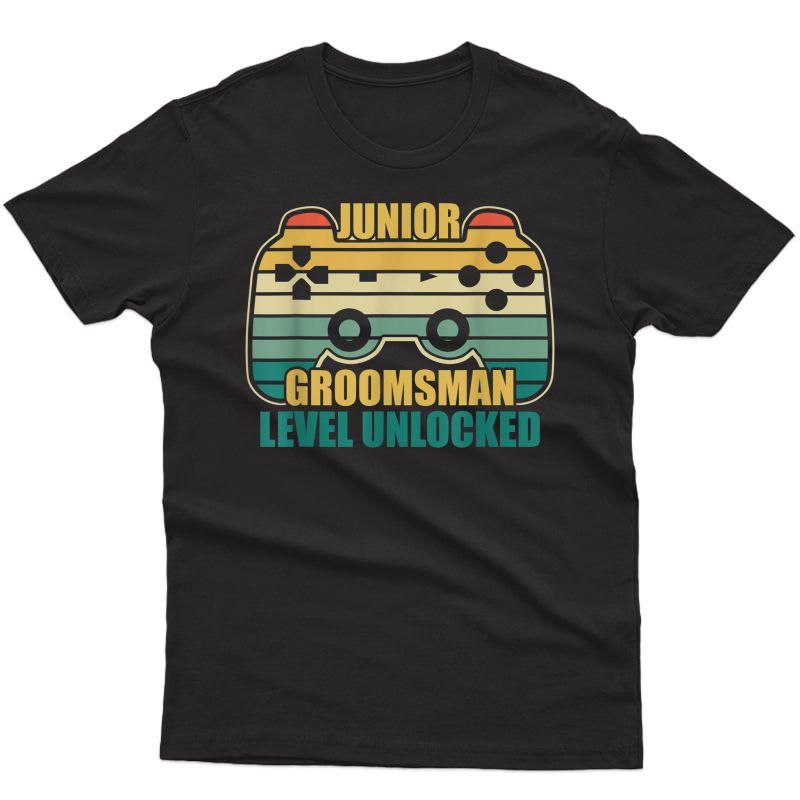 Retro Vintage Groomsman Gaming Video Gamer Gift T-shirt
