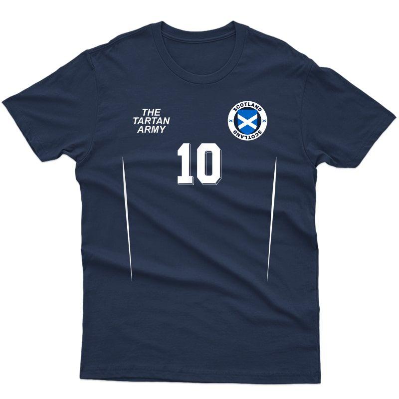 Scotland National Football Team Soccer Retro Nº 10 T-shirt