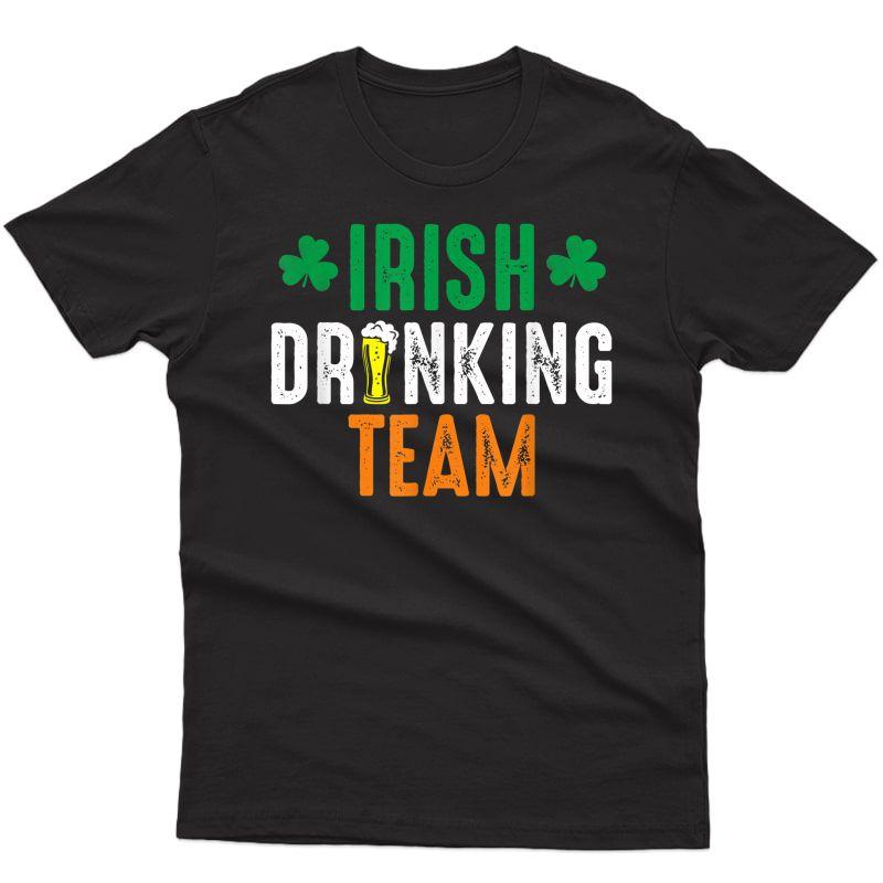 St Patrick's Irish Beer Drinking Team Ireland Flag Clover T-shirt