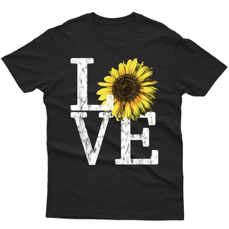 Sunflower Love Shirt Vintage Hippie Flower Nurse Mom Gift