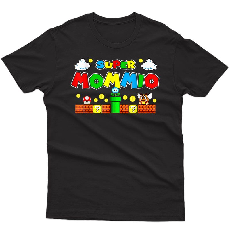 Super Mommio Funny Mom Mothers Day Gaming Boy Gamer T-shirt