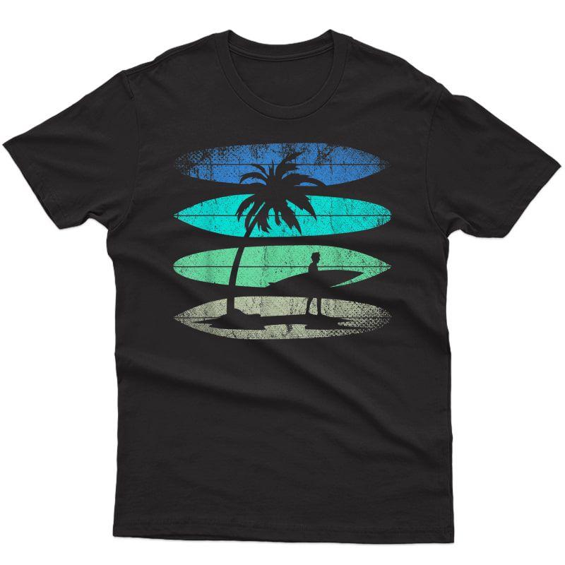 Surfer Water Sport Athlete Surfboard Surf Retro Surfing T-shirt
