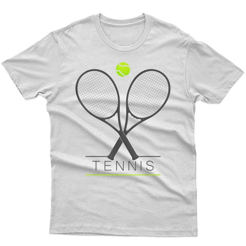 Tennis Tshirt   Trendy Tennis Rackets & Ball T-shirt