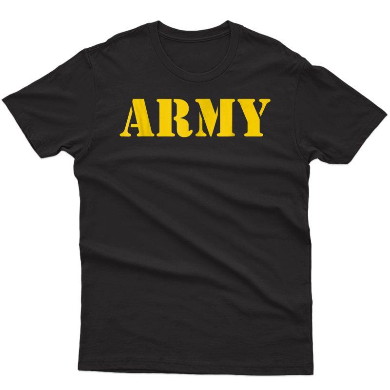 Vintage Army Logo Shirt Apfu Workout Tee