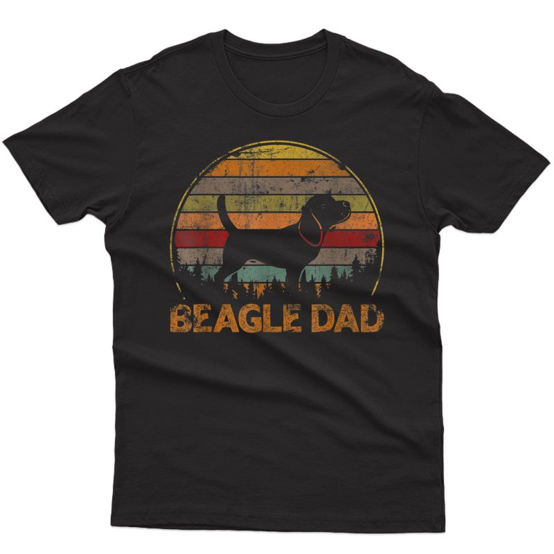 Vintage Beagle Dog Dad Retro Dog Father's Day T-shirt