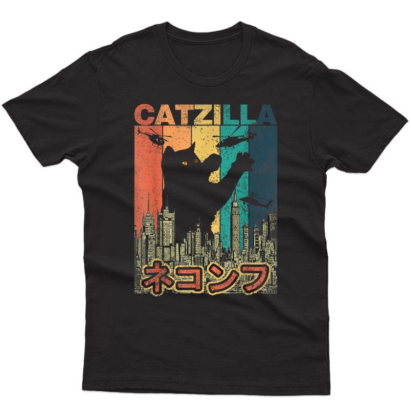 Vintage Catzilla Japan - Kitty Cat Lovers Halloween T-shirt