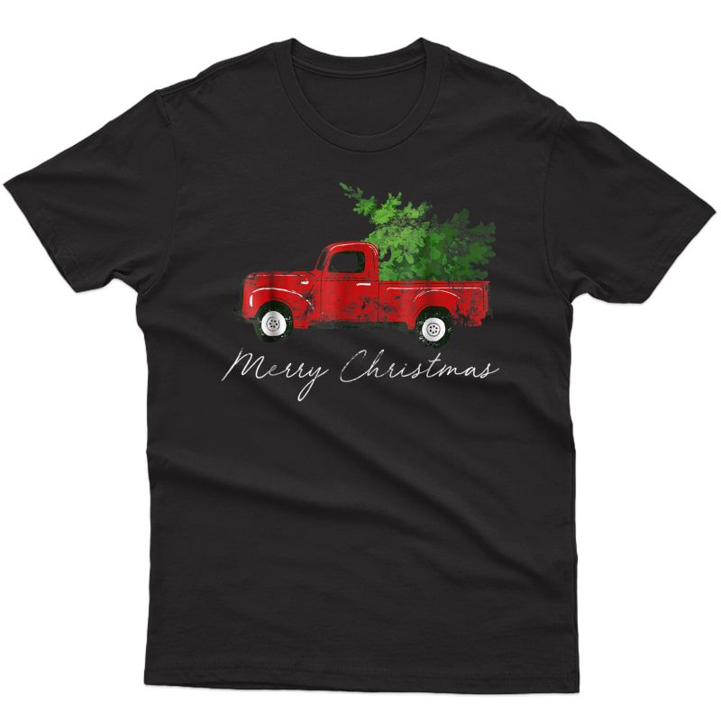 Vintage Wagon Christmas T-shirt - Tree On Car Xmas Vacation