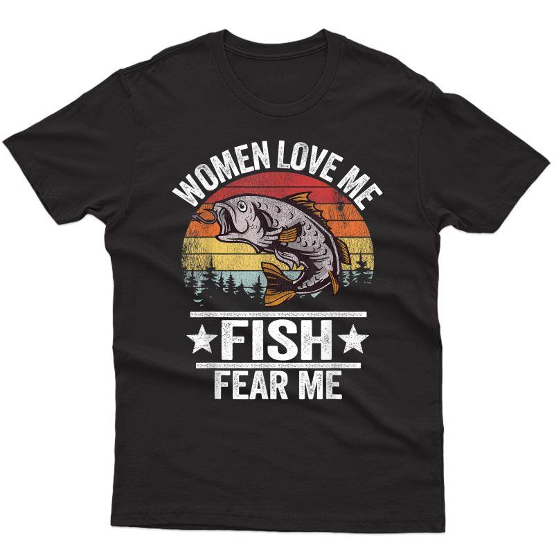 Love Me Fish R Me Fisher Vintage Funny Fishing T-shirt