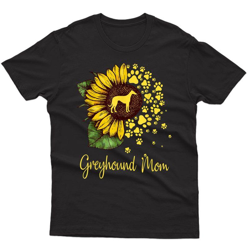Sunflower Greyhound Mom Dog Lover Gift T-shirt