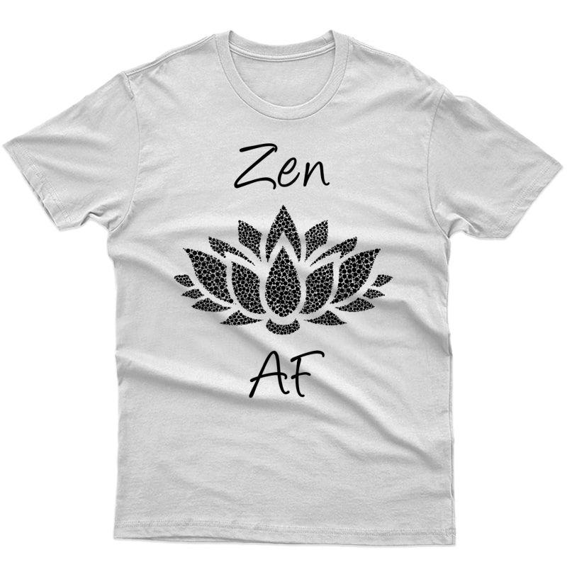 Zen Af Shirt,funny Meditation Yoga Saying Lotus Flower Life Tank Top